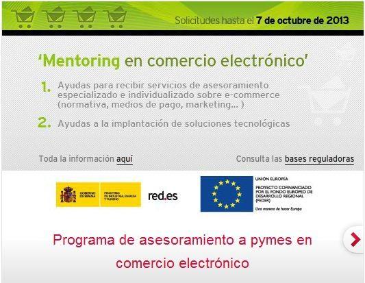 Programa de Mentoring en Comercio Electrónico de RED.es