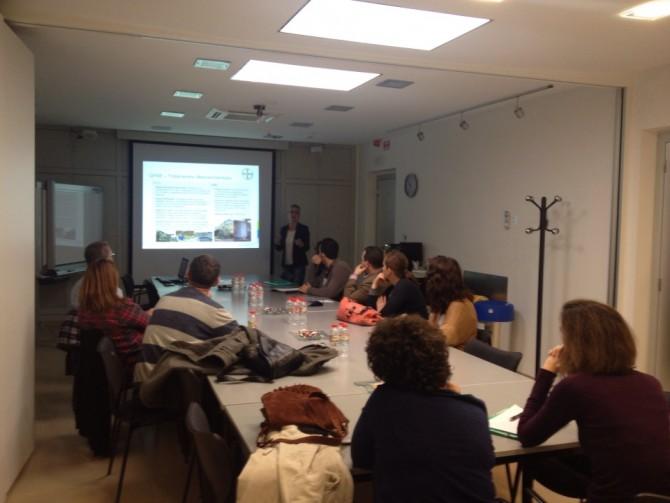 Visita de la Asociación de Antiguos Alumnos de la UPV a Bayer CropScience