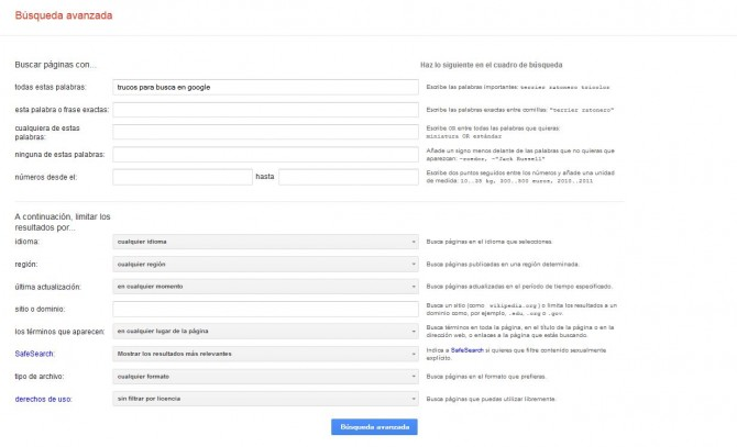 Trucos para realizar en Google búsquedas más efectivas