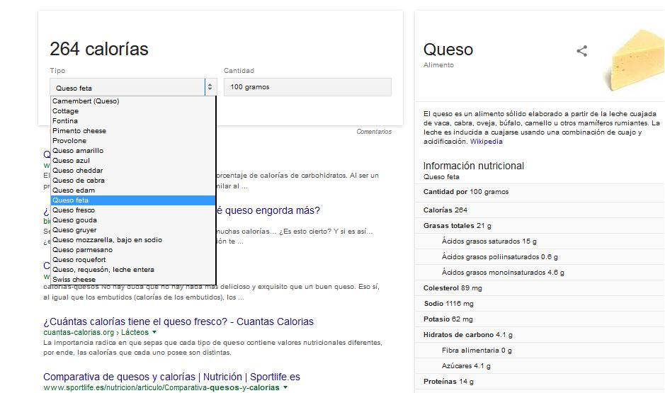 valor-calórico-google
