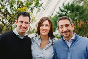 Iker Marcaide, Irene Cañero y Mariano Pontón