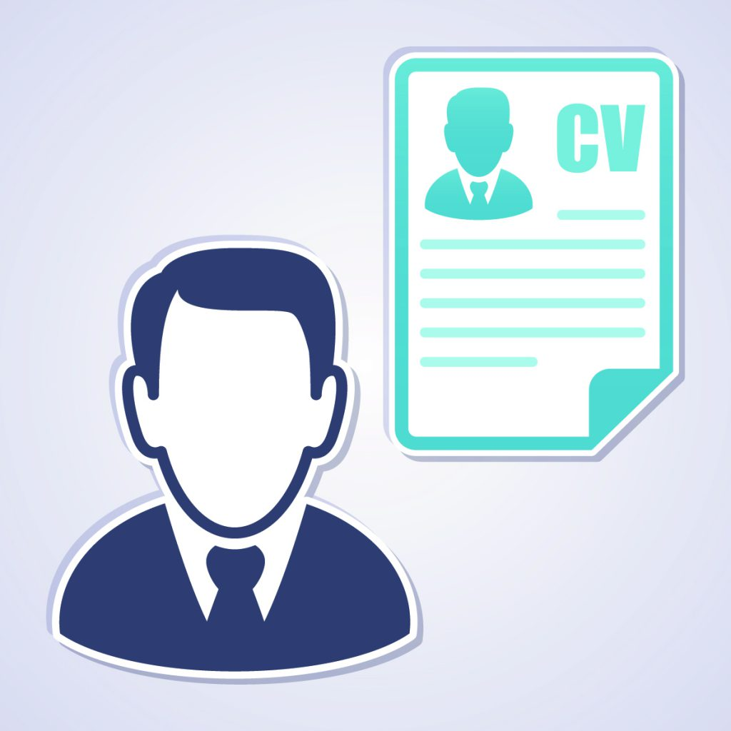 Businessman with a curriculum vitae