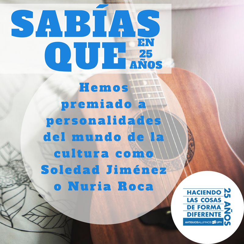 ¿Sabías que en 25 años hemos premiado a personalidades del mundo de la cultura como Nuria Roca o Soledad Jiménez?