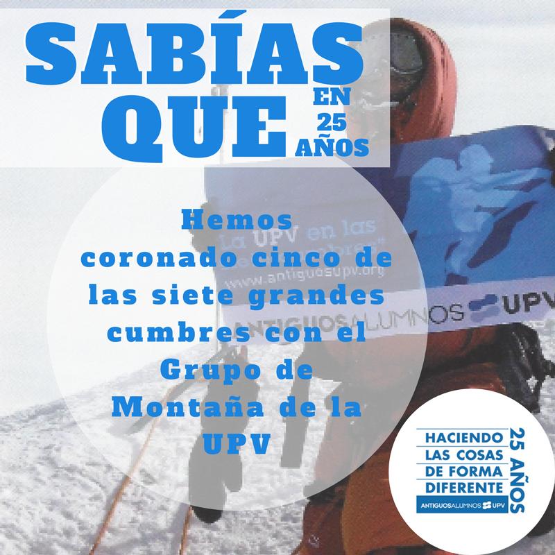 ¿Sabías que en 25 años nuestra bandera ha coronado cinco de las siete cumbres más altas del mundo?