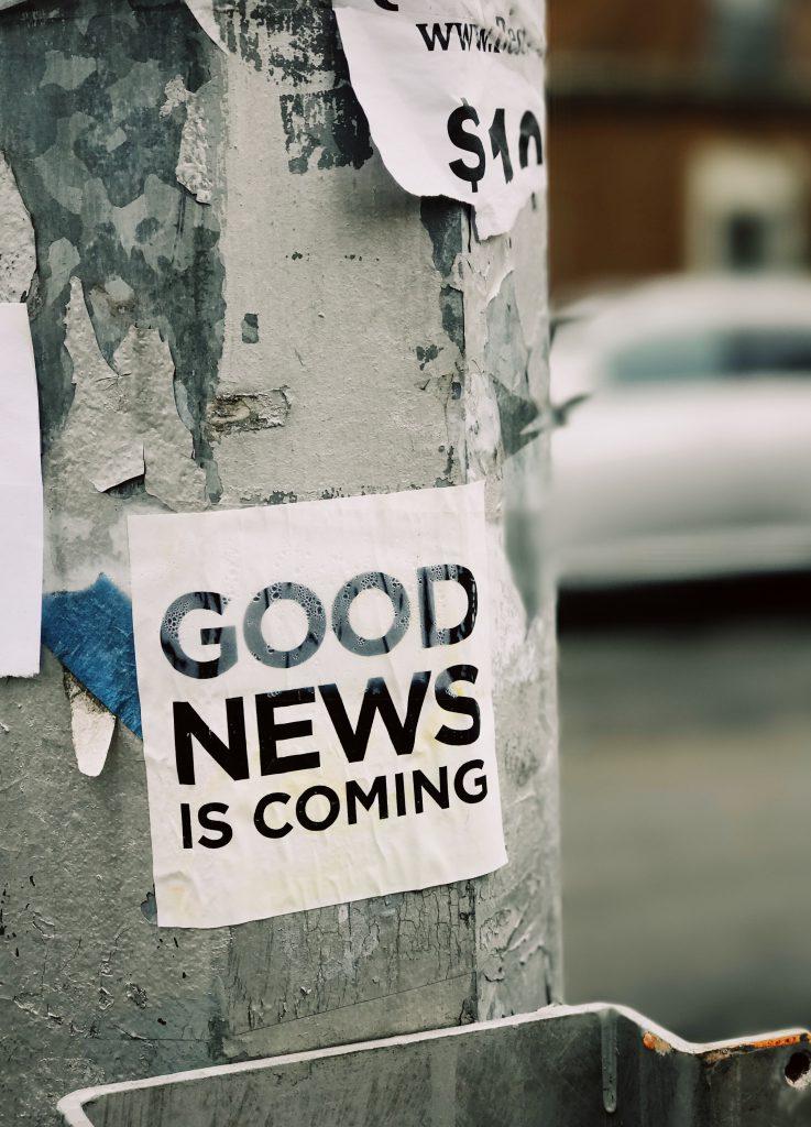 Vienen buenas noticias